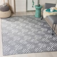 Safavieh Hand-Woven Kilim Grey Wool Rug - 4' x 6'