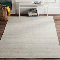 Safavieh Hand-Woven Kilim Ivory/ Silver Wool Rug - 4' x 6'