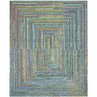 Safavieh Handmade Nantucket Bodhild Contemporary Cotton Rug (4 x 6 - Teal)