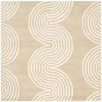 Safavieh Handmade Chatham Beige/ Ivory Wool Rug - 5' Square