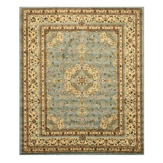 Blue Traditional Oriental Esfahan Rug (5'3 x 7'3)