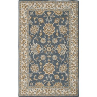 Navy Rizzy Home Ashlyn Collection New Zealand Wool Blend Hand-Tufted Accent Rug (2' x 3')