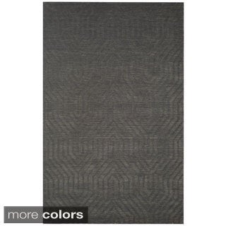 Blue/ Grey/ Beige/ Burgundy/ Brown Technique Collection 100-percent Wool Accent Rug (2' x 3')