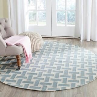 Safavieh Handmade Flatweave Dhurries Kristi Modern Wool Rug