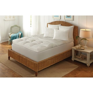 5-inch Ultimate Feather Bed with Removable Cover - White