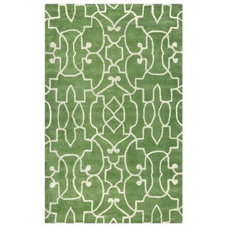 Green Bradberry Downs Collection 100-percent Wool Accent Rug (3' x 5') - 3' x 5'