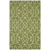 Green Bradberry Downs Collection 100-percent Wool Accent Rug (3' x 5')