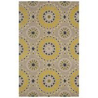 Beige/ Gold/ Dark Gold/ Black/ White Bradberry Downs Collection 100-percent Wool Accent Rug (8' x 10')