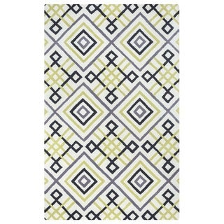 Ivory/ Gold/ Black/ Charcoal Bradberry Downs Collection 100-percent Wool Accent Rug (8' x 10') - 8' x 10'