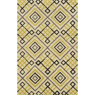 Ivory/ Gold/ Black/ Charcoal Bradberry Downs Collection 100-percent Wool Accent Rug (8' x 10')