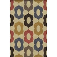 Beige/ Blue/ Rust/ Gold/ Grey/ Chocolate Bradberry Downs Collection 100-percent Wool Accent Rug (8' x 10')