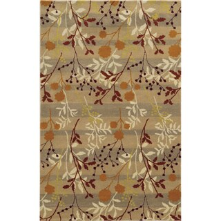 Gold/ Orange/ Cream/ Red/ Yellow Bradberry Downs Collection 100-percent Wool Accent Rug (8' x 10')