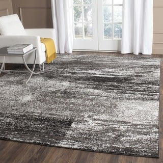 Safavieh Adirondack Modern Abstract Silver/ Black Rug (6' Square)