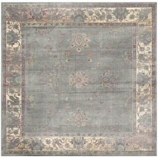 Safavieh Vintage Oriental Grey Distressed Silky Viscose Rug (6' Square)