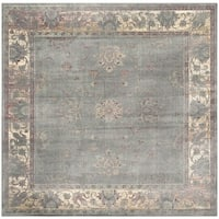 Safavieh Vintage Oriental Grey Distressed Silky Viscose Rug - 6' Square
