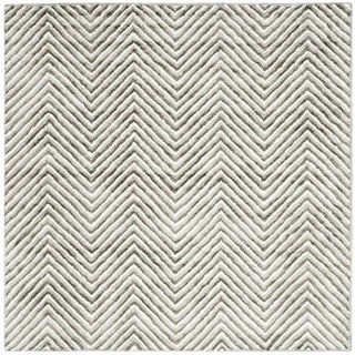 Safavieh Hand-Tufted Soho Ivory/ Grey N.Z. Wool Rug (6' Square)