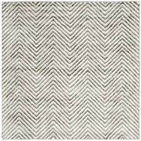 Safavieh Hand-Tufted Soho Ivory/ Grey N.Z. Wool Rug (6' Square)