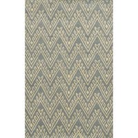 Bradberry Downs Grey/ White Collection 100-percent Wool Accent Rug (3' x 5')