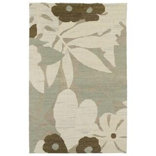 """Mallard Creek Spa Satilla Floral Wool Rug (5' x 7'9"""")"""