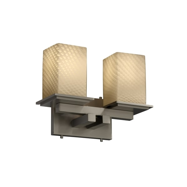 Justice Design Group Fusion 2-light Montana Bath Bar, Nickel