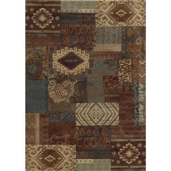 shop rust rizzy home bennington collection power loomed accent rug 3 39 3 x 5 39 3 free shipping. Black Bedroom Furniture Sets. Home Design Ideas