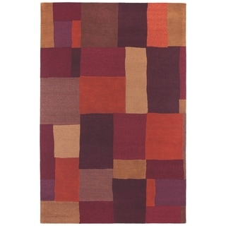 """Moods Chocolate Foundation Patchwork Wool Rug (5' x 7'9"""")"""