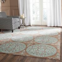 Safavieh Valencia Brown/ Alpine Distressed Silky Polyester Rug - 8' x 10'