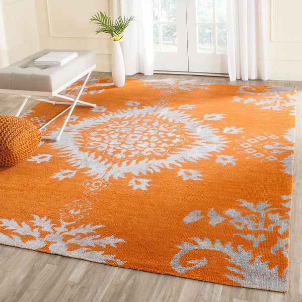 Safavieh Hand-knotted Stone Wash Gold Wool Rug (8' x 10')