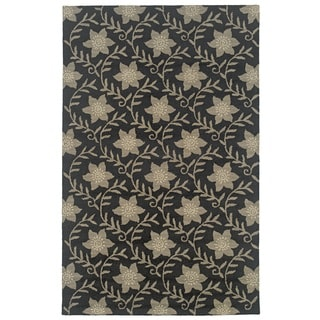 Rizzy Home Country Collection Hand-tufted New Zealand Wool Blend Accent Rug (2'6 x 8')