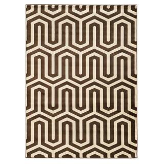 Linon Roma ZigZag Ivory/Chocolate Rug (8' x 10')
