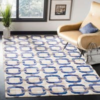 Safavieh Hand-woven Studio Leather Modern Geometric Ivory Rug - 8' x 10'
