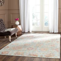 Safavieh Sevilla Light Blue/ Multi Viscose Rug - 2'1 x 8'