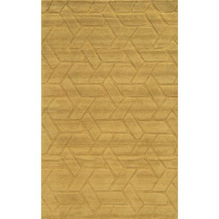 Grey/ Green/ Beige Technique Collection 100-percent Wool Accent Rug (2' x 3')