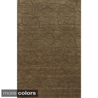 Grey/ Brown Technique Collection 100-percent Wool Accent Rug (2' x 3')