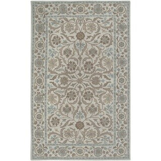 Rizzy Home Beige Ashlyn Collection New Zealand Wool Blend Hand-Tufted Accent Rug (2' x 3')