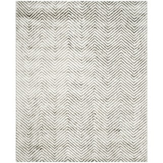 Safavieh Hand-Tufted Soho Ivory/ Grey N.Z. Wool Rug (8' x 10')