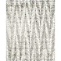 Safavieh Hand-Tufted Soho Ivory/ Grey N.Z. Wool Rug - 8' X 10'