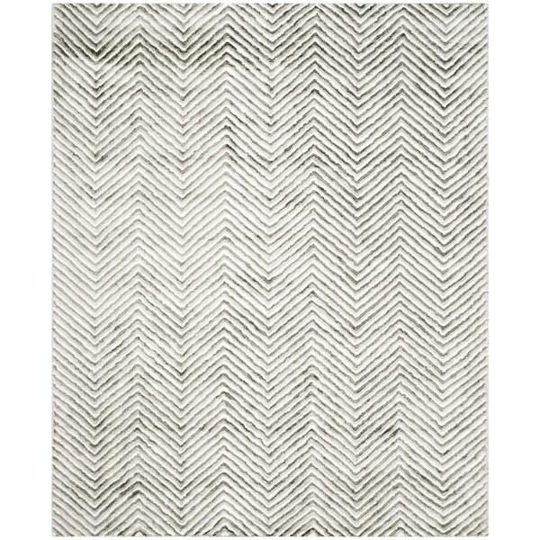 Safavieh Hand-Tufted Soho Ivory/ Grey N.Z. Wool Rug - 8' x 10'