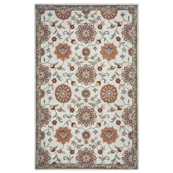 Beige Rizzy Home Ashlyn Collection New Zealand Wool Blend Hand-Tufted Accent Rug - 2' x 3'