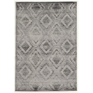 Linon Platinum Collection Santa Fe Grey/Black Rug (2' x 3') (Overstock Exclusive)