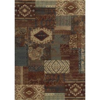 Rizzy Home Rust Bennington Collection Power-Loomed Accent Rug (6'7 x 9'6)