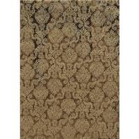Rizzy Home Beige Bennington Collection Power-Loomed Accent Rug - 5'3 x 7'7