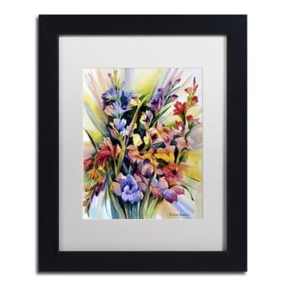 Rita Auerbach 'Glad Bursts' Matted Framed Art