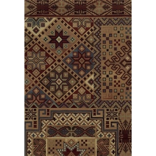 Rizzy Home Red Bennington Collection Power-Loomed Accent Rug (5' 3 x 7'7)