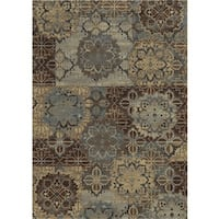 Rizzy Home Grey Bennington Collection Power-Loomed Accent Rug - 5'3 x 7'7