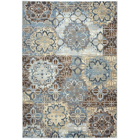 Rizzy Home Grey Bennington Collection Power-Loomed Accent Rug - 6'7 x 9'6