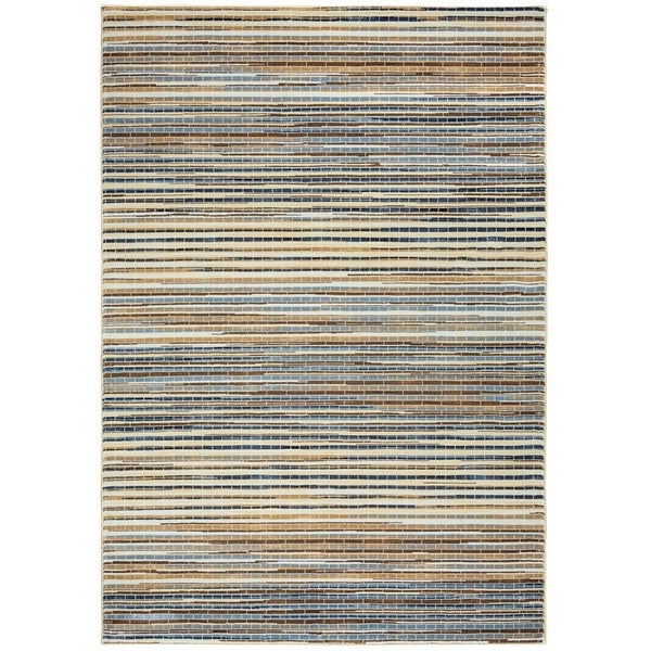Grey Rizzy Home Bennington Collection Power-Loomed Accent Rug (6'7 x 9'6)