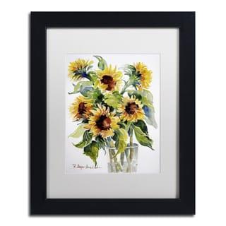 Rita Auerbach 'Sunflowers' Matted Framed Art