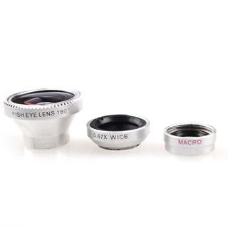 3-in-1 Detachable Fisheye Lens/ Wide Angle/ Macro Lens Kit for iPhone|https://ak1.ostkcdn.com/images/products/10215896/P17338141.jpg?impolicy=medium