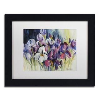 Rita Auerbach 'White Iris' Matted Framed Art